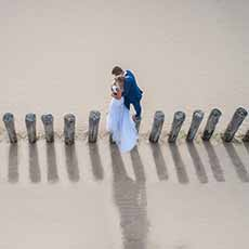 Photo de couple aérienne drone